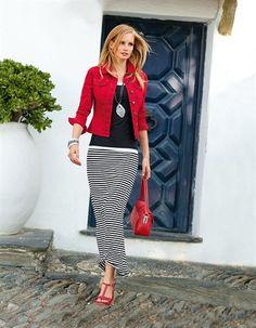 La jupe - noir / blanc - noir, blanc, multicolore - dans la boutique en ligne MADELEINE