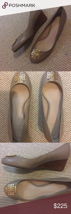 Tory Burch medallion wedges Brand new never worn Tory Burch Chelsea medallion wedges Tory Burch Shoes Wedges
