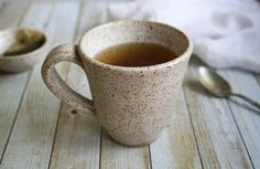 Handmade Stoneware Mug in Creamy Speckled Glaze by AndoverPottery