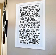 Inspiring Quotes for Home Decor - get one of these prints to hang in your home! via www.thirtyhandmadedays.com