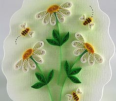 JJ Quilling Design - Quilled Bees & Daisies - by: Diane Boden Crane
