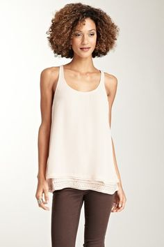 Pretty embellished hem tank