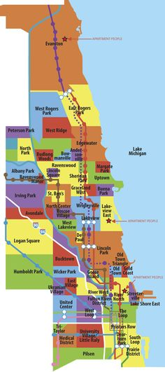 Chicago-Neighborhoods-Map for people visiting the City of Chicago ...