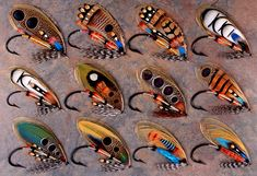 Salmon flies created and tied by Paul Schmookler