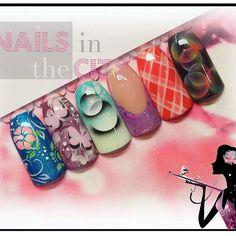 airbrush niveau  1 #naildesign #nailart #nails #instanails #acrylicnails #airbrush #aerographe #foils #nailsinthecity www.nailsinthecitybelgium.be #airbrushnailart #formationairbrush #prinzyes #willa #willanail