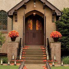 Orange Rose Ceremony Exterior Decor
