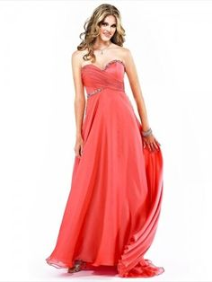 Style A-line Sweetheart  Beading  Sleeveless Floor-length Chiffon Prom Dress / Evening Dress #dress #MyeSoul