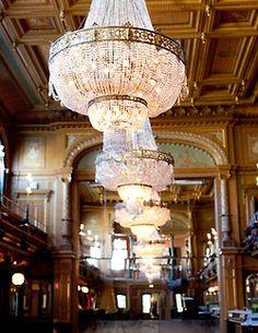 Epic chandeliers.