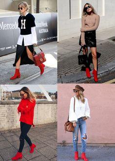 Bota Vermelha: Como Usar e Onde Comprar - Carol Doria, look, bota vermelha de cano curto, comprar online, red boots, how to wear, where to buy, trend, outfit