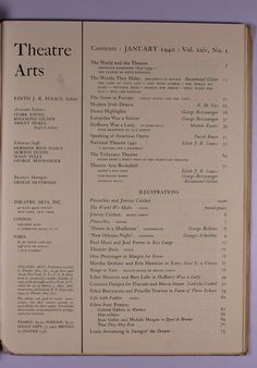 You are bidding on a vintage, antique, collectible back issue of theatre arts dated january 1940. The cover features pinocchio and jiminy cricket. Includes an article about pictorials featuring pinocchio and jiminy cricket. This piece also include numerous black and white book plates or illustrations depicting actors, directors, scenes from plays and movies, sets, etc. Please see the scan of the table of contents for more info.internal pages photographed were selected at random unless…