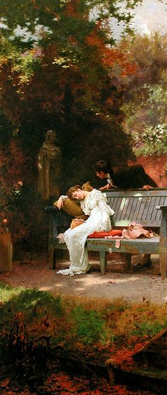 Marcus Stone    The End of the Story    1900