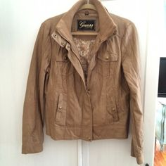 Spotted while shopping on Poshmark: Guess leather moto jacket - NWOT! #poshmark #fashion #shopping #style #Guess #Jackets