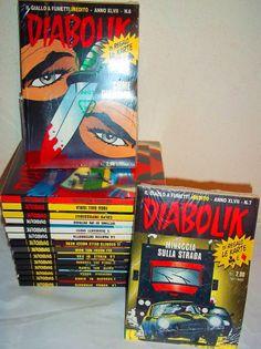 2°BLOCCO DIABOLIK ALBI+CARDS 3D+ KARTE IMBUSTATE PERFETTE GADGET DIABOLIKO 2008