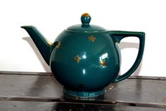 Hall Green with Gold Stars Teapot