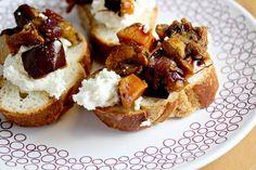 butternut squash, eggplant, and ricotta bruschetta YUM