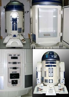 I know a few friends who would be in love with this R2D2 mini fridge! :D I am not Star Wars' biggest fan and even I love it! :)