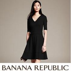 Black A-line Banana Republic Dress Gorgeous black Dress in excellent condition. It shows of no sign of wear. Worn once. Collection 2014. Banana Republic Dresses