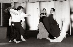 Koichi Tohei Sensei demonstrating Ki Aikido with Shizuo Imaizumi as uke in 1974