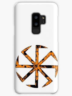 'Kolovrat, the Symbol of the Sun (Slavic Pagan, Orange Extravaganza)' Case/Skin for Samsung Galaxy by WearGraphics Pagan Symbols, Deities, Wicca, Smartphone, Samsung Galaxy, Framed Prints, Phone Cases, Orange, Wiccan