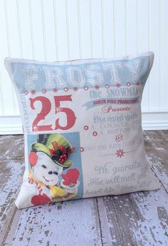 Frosty the Snowman Pillow Cover