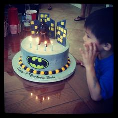 The Batman cake at my nephew's birthday party
