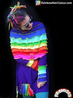 Rainbow Katwise style dress by Jo Dunham Unique Promises Anya Goy