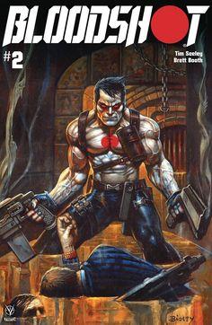 Bloodshot #2 [Valiant] | Variant cover art by Simon Bisley