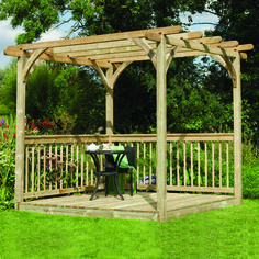 Transform Your Garden With This Instant Patio And Pergola Deck Kit. If You  Areu2026