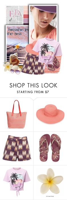 """""""Faded Ikat Shorts"""" by tasha1973 ❤ liked on Polyvore featuring BP., Sun N' Sand, Havaianas, Miss Selfridge and Italia Independent"""