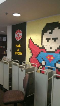 Superman made of post-it notes:)
