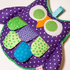 this would be easy to make, and just put old nappy wipe plastic in middle so it will make the crinkly sound...