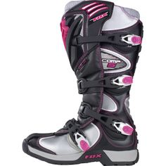 Motorcycle Safety Gear, Women's Motorcycle Boots, Womens Dirt Bike Gear, Motocross Girls, Snowmobiles, Fox Racing, Dirtbikes, Fashion Boots, Quad