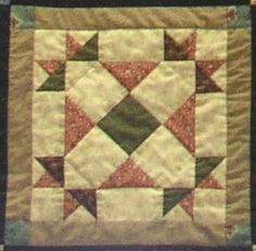 Crowned Cross - Quilts frequently echoed the religions of the Civil War Era. The crowned Cross was a popular block often used by the church groups in quilts sent to the battlefield. Over 250,000 were stitched for the soldiers. They covered the wounded in the army hospitals. If a soldier died, he was buried in his quilt.