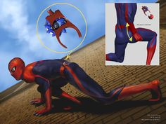 #Spiderman #Fan #Art. (The Åmazing Spider-Man. The concept art, made by Ed Natividad , also shows an interesting study on the web shooter, types of fillers used, its inner workings and the charging mode.) By: Ed Natividad. ÅWESOMENESS!!!™