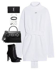 """Untitled#4722"" by fashionnfacts ❤ liked on Polyvore featuring Off-White, Jeffrey Campbell, Alexander Wang, ASOS and Yves Saint Laurent"