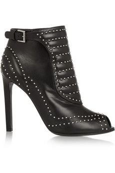 Alexander McQueen Studded leather ankle boots | NET-A-PORTER