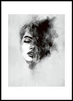Poster med kunst. Svarthvite plakater og posters online.