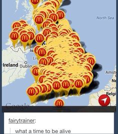 So what do you want for lunch? McDonald's or McDonald's?>>>>>> that's not America. We're not right next to Ireland.