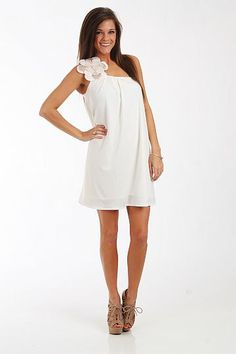 Judith March Big Flower Dress - White - $88.00