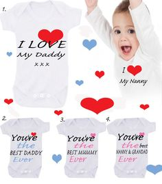 I love my Big Brother Sister  etc 1x bodysuit or by BABYGROWSTREET