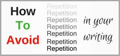 How to Reduce Repetition in Your Manuscript Writing… by Lisa Brown  on Just Publishing Advice site: You may not have any challenge in expressing yourself through your writing, but there's a common mistake that many writers make and sometimes, without…