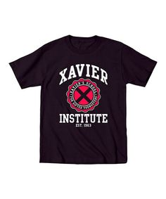 Love this Black 'Xavier Institute' Short-Sleeve Tee - Toddler & Kids on #zulily! #zulilyfinds