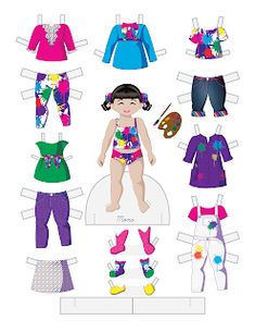 Paper Doll School: Toddler Fashion Friday - Mona