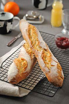 Baguette /základ k vaječným lodičkám Baguette Recipe Bread Machine, Bread Machine Recipes, Bread Recipes, Cooking Recipes, Baguette Bread, Bread Oven, Pan Bread, Croissants, Bread And Pastries