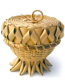 Acorn Baskets are baskets that are shaped just like an acorn from an oak tree....origin uncertain