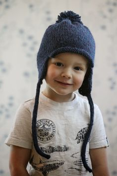 Free Pattern: All in the Family Earflap Hat sizes child to adult - Balls to the Walls Knits