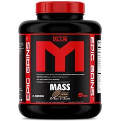MTS Nutrition Epic Gains 5lb Mass Gainer - Cookies  #SportsNutrition