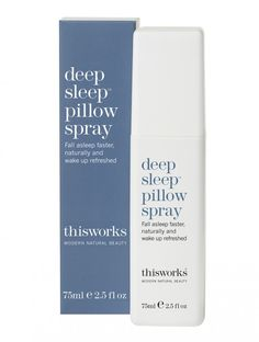 The miracle solution to a good nights sleep. With This Works signature relaxing fragrance, this pillow spray will become your must-have sleep solution. Infused with essential oils of Lavender, Vetivert and Wild Camomile to soothe the body and mind.