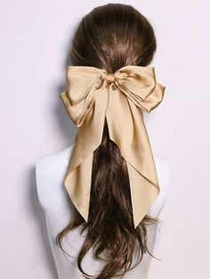 Clip Hairstyles, Latest Hairstyles, Headband Hairstyles, Pretty Hairstyles, Hair Ribbons, Hair Bows, Bow Hair Clips, Ribbon Hairstyle, Scarf Display