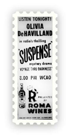 Suspense Radio Show  ~  Suspense is an old time radio show of epic proportion. It aired on CBS from 1942 to 1962, and is considered one of the best, if not the best drama shows during the golden age of radio. It was often referred to as 'Radio's outstanding Theater of Thrills' as it focused on suspenseful, thriller type old time radio.